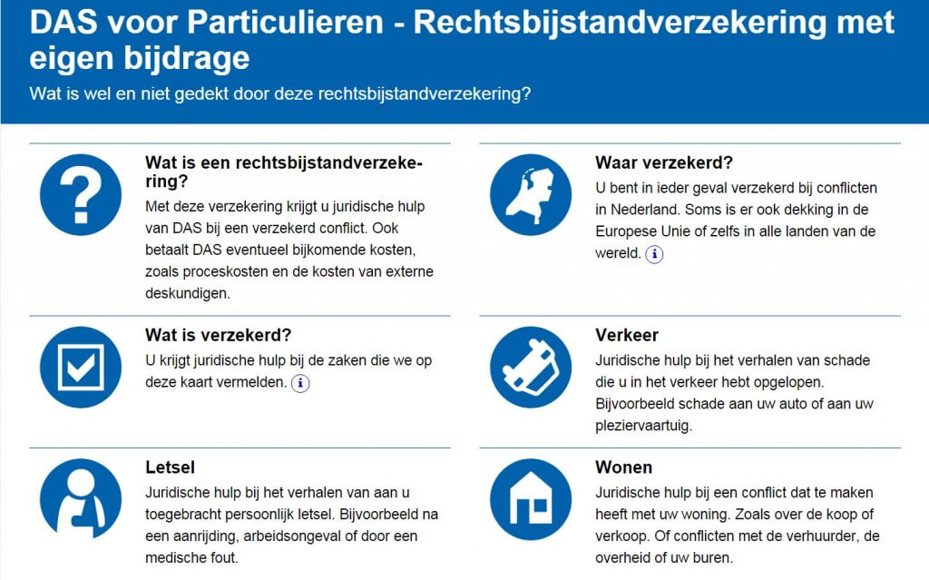 Verzekeringskaart Rechtsbijstandsverzekering DAS